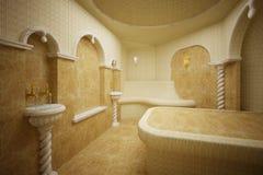 Hammam, Turkish steam room, 3-D Royalty Free Stock Photo