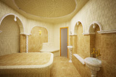 Hammam, Turkish steam room, 3-D Stock Photography