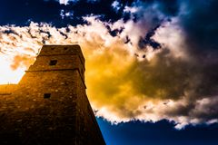Hammamet,突尼斯 老麦地那建筑学的图象  免版税图库摄影
