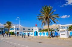 HAMMAMET, TUNESIË - Oct 2014: De militaire bouw op 6 Oktober, 2014 Stock Foto