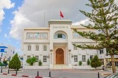 HAMMAMET, TUNESIË - Oct 2014: De militaire bouw op 6 Oktober, 2014 Royalty-vrije Stock Afbeelding