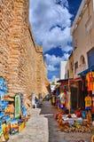 HAMMAMET, TUNESIEN - OKTOBER 2014: Basar-Markt angemessen am 6. Oktober, 2 stockbild
