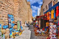 HAMMAMET, TUNISIA - OCT 2014: Bazaar Market Fair on October 6, 2 Royalty Free Stock Photography