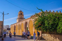HAMMAMET, TUNISIA - Oct 2014: Mosque in El Jem, October 7, 2014 Stock Image