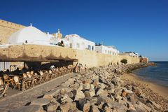 Hammamet, Tunisia. View of the medina from coast, Hammamet Stock Image