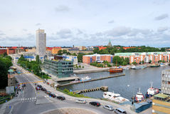 hammarby hamnen sodraen stockholm Arkivbilder