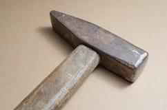 Hammare med trähandtaget Royaltyfri Bild