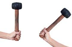 hammarehand som hoding isolerade två Royaltyfri Fotografi