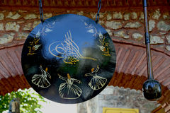Hammaren och gongen Arkivfoto