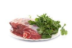 Hammelfleischschinken auf einem weißen Hintergrund Lizenzfreie Stockbilder