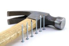 Hammer. And Nail Royalty Free Stock Photos