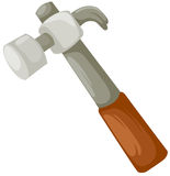 Hammer. Illustration of isolated a hammer on white background Stock Photography