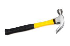 Hammer. With the yellow handle on a white background Royalty Free Stock Photography
