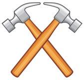Hammer. Crossed hammer, hammer vector illustration Royalty Free Stock Photo