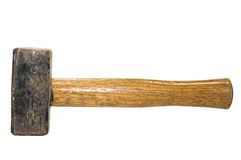 Hammer. Used heavy hammer on white background Royalty Free Stock Photography