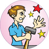 Hammer Accident Royalty Free Stock Image