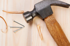 Hammer And Nail. Royalty Free Stock Photography