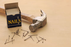 Free Hammer And Nails Royalty Free Stock Image - 13174616