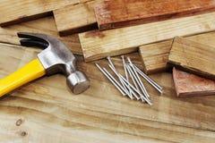 Free Hammer And Nails Stock Photo - 38302980