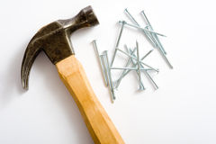 Free Hammer And Nails Royalty Free Stock Image - 5146376
