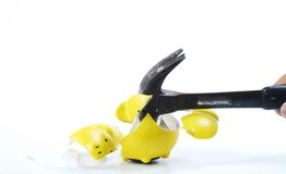 Hammer And Piggy Bank Royalty Free Stock Photography