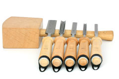 Hammer ang five chisels Stock Photography