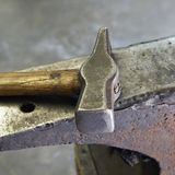 Hammer and anvil. Royalty Free Stock Photography