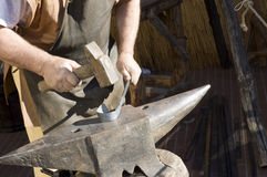 Hammer and anvil Royalty Free Stock Photos