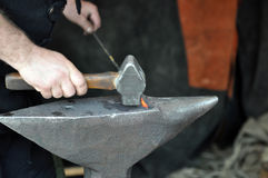 Hammer and anvil Royalty Free Stock Images