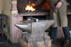 Hammer and anvil at the forge Stock Images