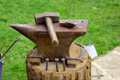 The hammer and the anvil Stock Images