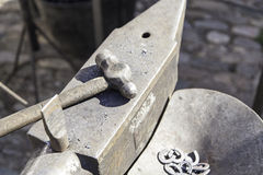 Hammer and anvil to forge Stock Photo