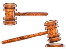 Hammer auction symbol Stock Image