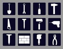 Hammer auf dem Fenster Stockfotografie