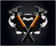 Hammer banner. Vector hammer banner in realistic style Stock Image