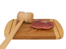 Hammer for beating the meat Stock Image