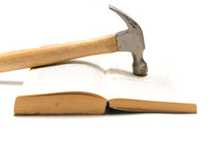 Hammer with book Stock Photo