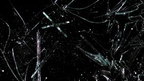 Hammer broking pane of glass, slow