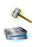 Hammer and case Stock Images