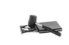 Hammer and CD-ROM Drive Royalty Free Stock Photography