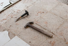 Hammer and cold chisel. Stock Image