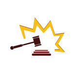 Hammer court in color vector illustration Royalty Free Stock Photos