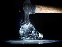 Hammer crush bulb Royalty Free Stock Images