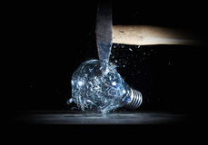 Hammer crush bulb Royalty Free Stock Photos