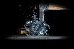 Hammer crush bulb Royalty Free Stock Image