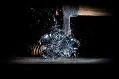 Hammer crush bulb Royalty Free Stock Image