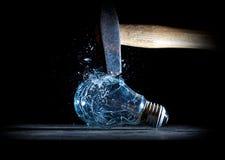 Hammer crush bulb Royalty Free Stock Photos
