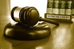 Hammer des Obersten Gerichts Lizenzfreies Stockfoto