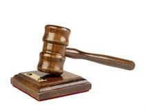 Hammer des Rechtsanwalts Lizenzfreie Stockbilder