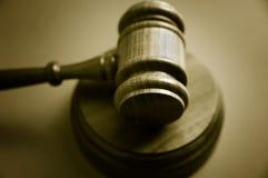 Hammer des Richters Stockfoto